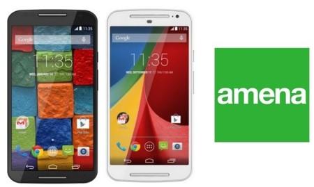 Precios Moto X y Moto G de nueva generación con Amena y comparativa con Orange y Yoigo