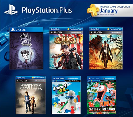 PS Plus de enero 2014: BioShock Infinite, DMC: Devil May Cry, Don't Starve, y más