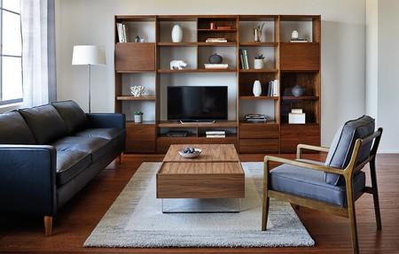 Mueble de salón de líneas rectas
