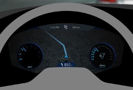 Información en panel de control Here Auto