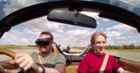 Conduciendo con la vista de un videojuego gracias a un drone
