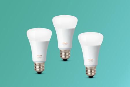 Las bombillas Philips Hue aprovechan el 3x2 de MediaMarkt y se queda el pack por 23,95 euros