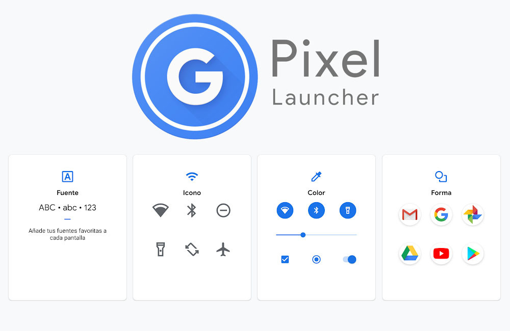 this is the new Pixel 4 Launcher and selector of styles that you can try on your Pixel