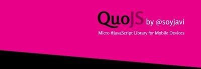 QuoJS, micro librería de JavaScript para móviles