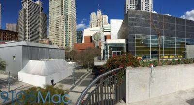 Los misteriosos edificios blancos vuelven a la carga: Apple está construyendo uno en el Yerbabuena Center