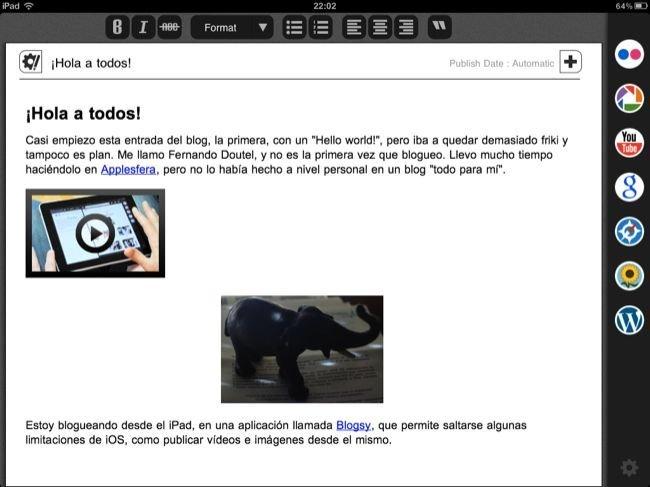 Vista Maquetada en Blogsy