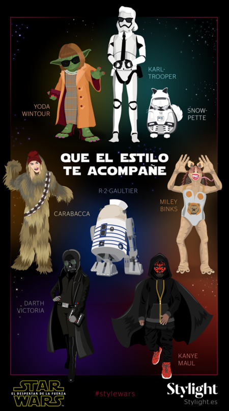 Stylight Presenta A Los Iconos De La Moda En Version Star Wars