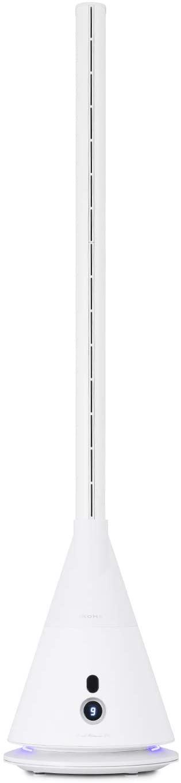 IKOHS Cool Silence DC - Ventilador de Torre Ultrasilencioso, sin Aspas, 9 Velocidades, Oscilación 90°, Programable, Temporizador, con Mando a Distancia, Bajo Consumo, Ligero, Diseño Vanguardista