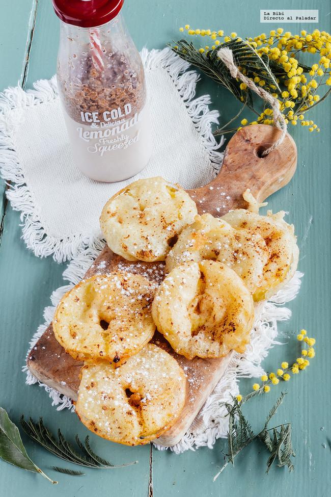 Aros fritos de Manzana