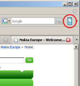 Navegando por tu móvil con Nokia PC Phone