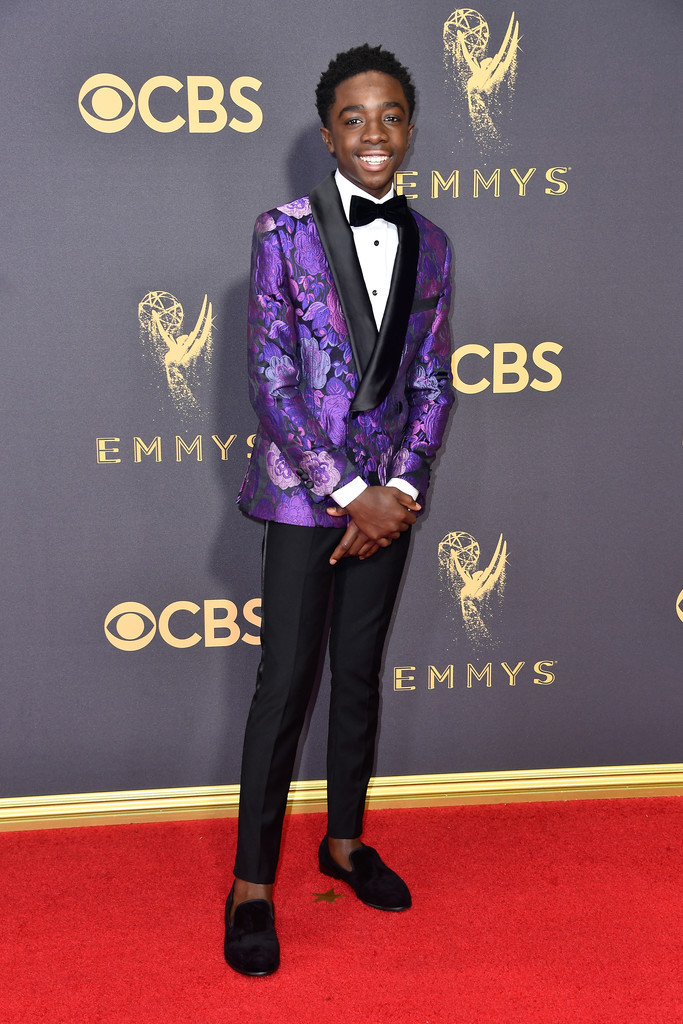 Caleb Mclaughli Stranger Things Cast Red Carpet Emmys 2017 2