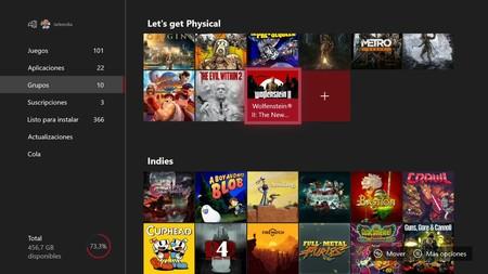He empezado a organizar por carpetas mi catálogo de Xbox One, y esto es lo que me ha parecido