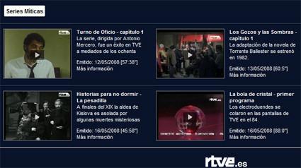 """Servicio """"a la carta"""" en la nueva web de RTVE"""