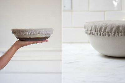 Cubiertas de tela ajustables para proteger platos y cuencos