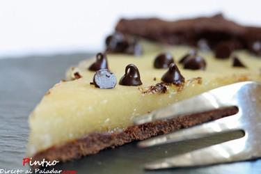 Receta de Tarta de limón y chocolate