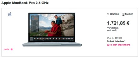 ¿Ha publicado T-Systems el nuevo MacBook Pro por error?