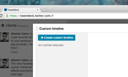 crear timeline nueva linea temporal tweetdeck