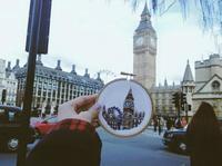 Fotos del mundo tomadas con aguja e hilo