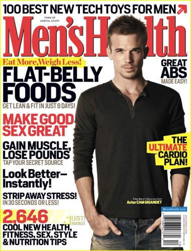 Cam Gigandet tremendo en la portada Men's Health