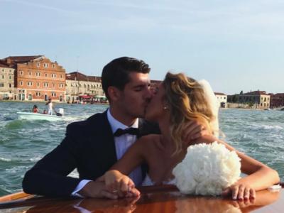 El bodorrio de Álvaro Morata y Alice Campello en Venecia