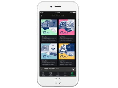 """Spotify lanza Daily Mix, una serie de playlists con música """"infinita"""" personalizada"""