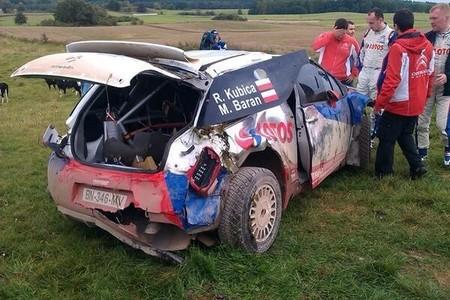 La semana más importante para Robert Kubica comienza con accidente