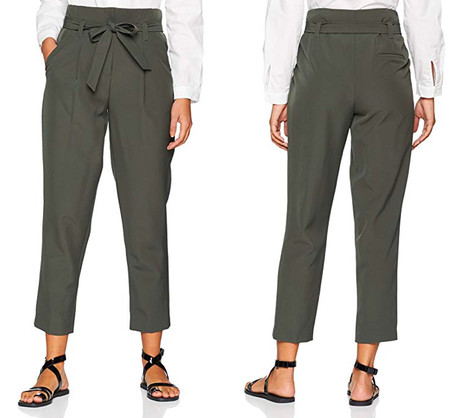 Pantalon Caqui Lazo Verde amazon