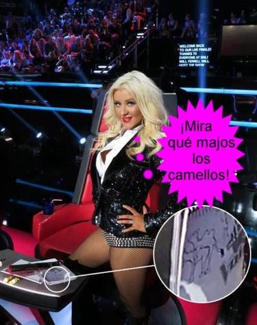 La prueba de que Christina Aguilera también pintaba los libros en el instituto