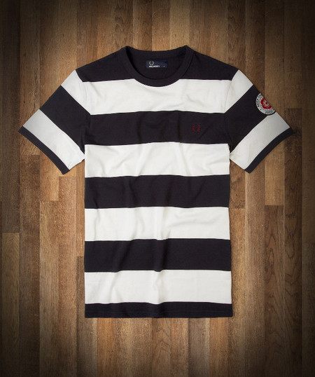 Camiseta rayas con parche Fred Perry