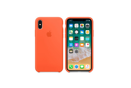 carcasa iphone se silicona amarillo