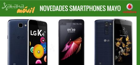LG X Screen, LG K8 y LG K4, novedades del catálogo de Vodafone en mayo y sus precios