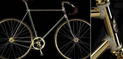 Bicicleta Aurumania en oro y Swarovsky
