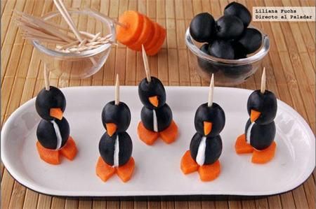 Sorprende a tu familia con estos divertidos entrantes en forma de pingüino