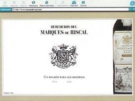 Marqués de Riscal y su nueva web