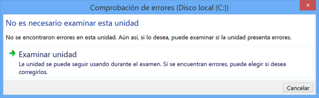 Comprobacion Errores Disco Local Windows