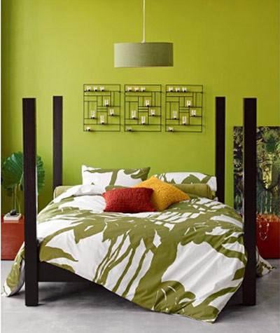 Una habitación.... ¿en verde?
