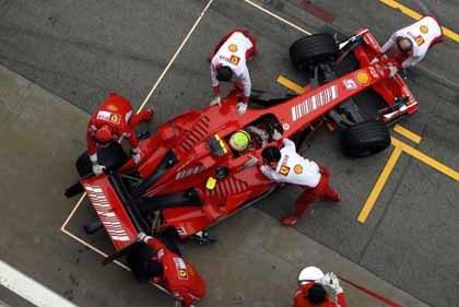 El Ferrari del 2008 rodará por primera vez en Jerez