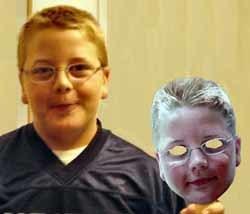 Máscaras con la cara de tu hijo