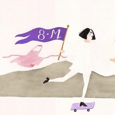 #Ilustralahuelgafeminista empodera con arte el mensaje feminista del 8 de marzo
