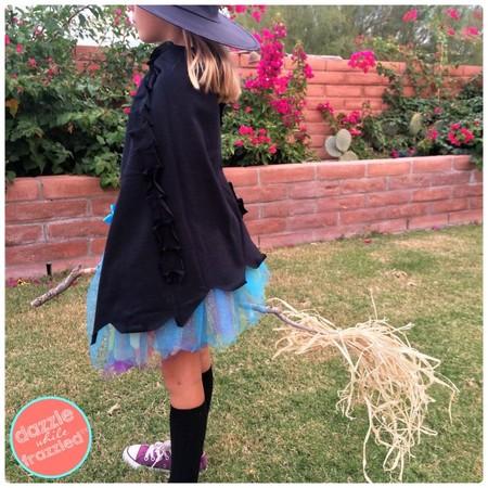 Disfraz Halloween Facil Barato Bruja Capa