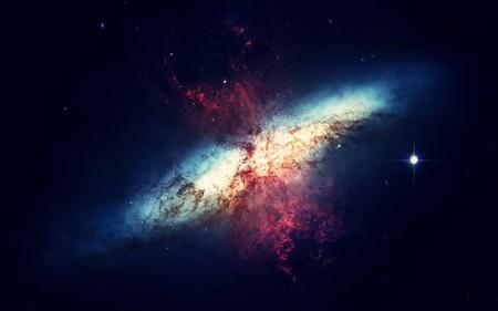 Nuestra galaxia ya está empezando a chocar contra otra galaxia
