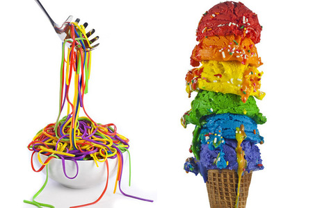 Comida arcoíris - helado