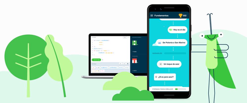 Grasshoper, la aplicación de Google para aprender JavaScript en tu móvil, ya está en Español
