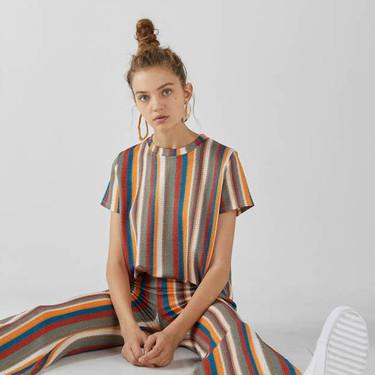 El total look a rayas en un sólo paso de Bershka es la tendencia más fácil de llevar este verano