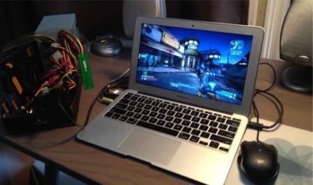 Conectan una tarjeta gráfica vía Thunderbolt a un MacBook Air ejecutando Windows y disparan su rendimiento en juegos