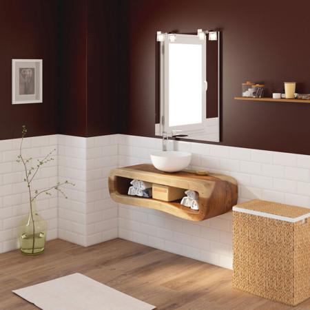 La madera en el ba o d nde c mo y cu l poner - Muebles madera natural sin tratar ...