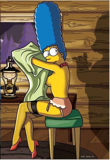 Se filtran las imágenes del desnudo de Marge Simpson