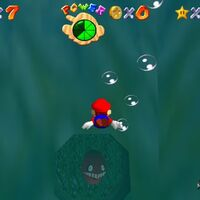 Super Mario 64: cómo conseguir la estrella Can the Eel Come Out to Play? de Jolly Roger Bay