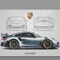 Es hipnótico ver a cámara rápida cómo se hace este dibujo hiperrealista del Porsche 911 GT2 RS