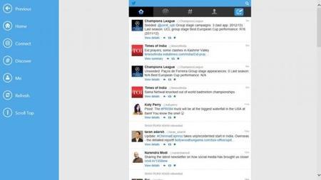 Twitter HD para Moder UI